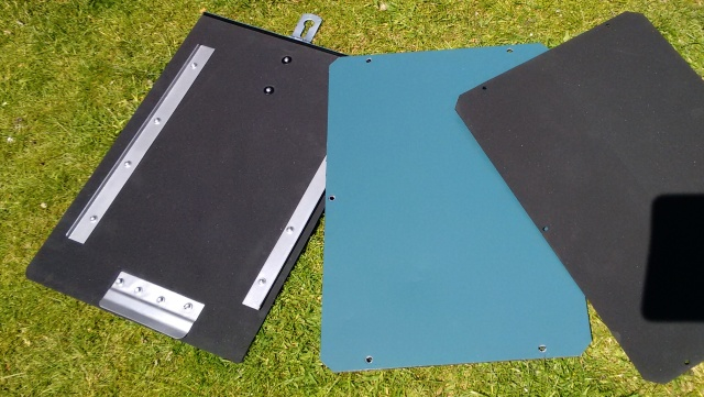 Seat box lids painted and lined with 3mm self-adhesive neoprene / foam sheet