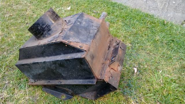 Heater matrix unit - rust