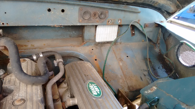 Bulkhead, surface rust