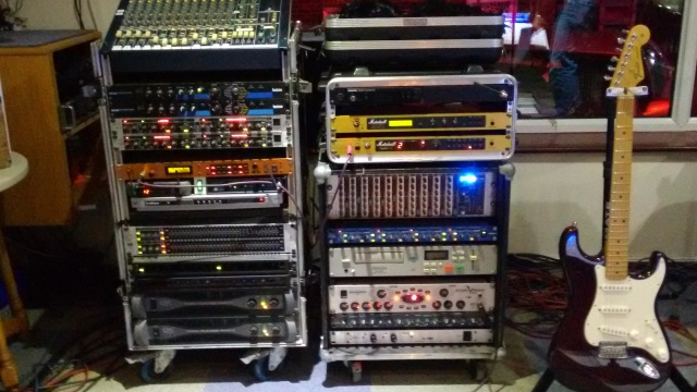 Mixer, guitar and bass preamps, vocal processors, power amps...