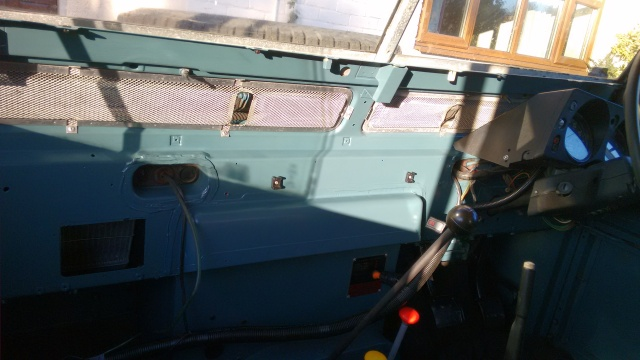 Once the paint had dried I was able to refit the passenger-side fly-screen