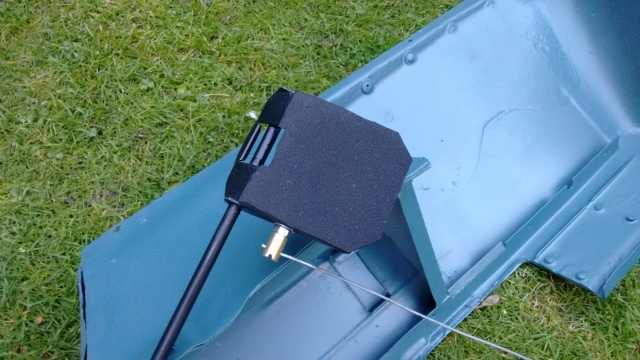 Flap with foam and home-made cable clamp