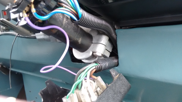 I added protection to these cables where they pass into the dash