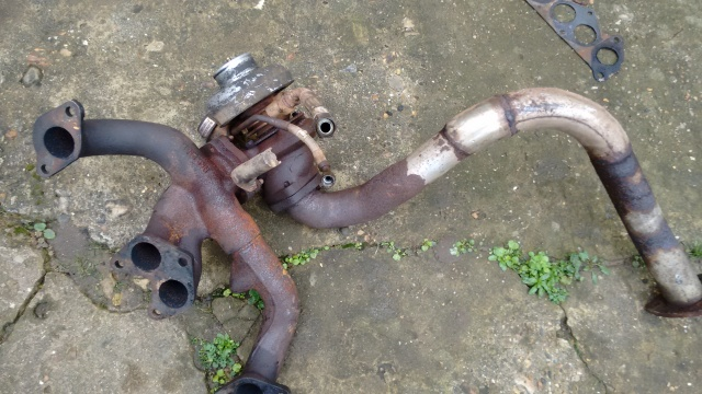 Exhaust manifold, turbo assy, front pipe
