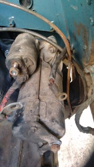 Remove the starter motor