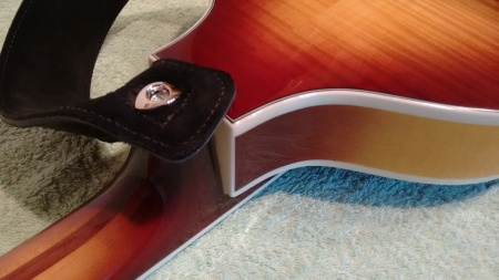 D'Addario Elliptical End Pin fitted to the Hofner Bass